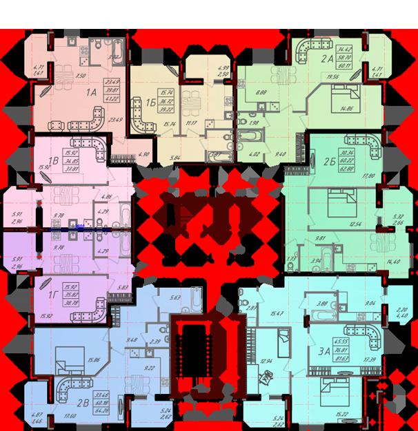 Дом №10 секция В первый этаж