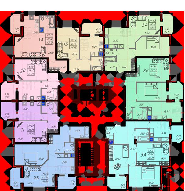 Дом №10 секция В типовой этаж