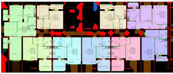 Дом №11 секция Д типовой этаж