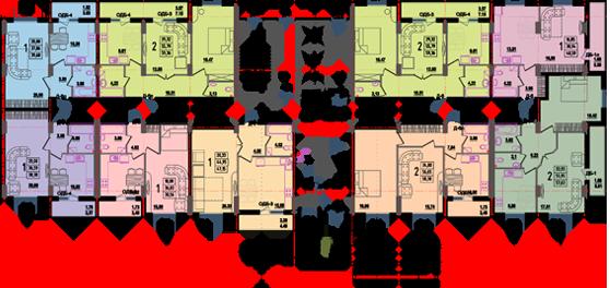 дом №8 секция А план первого этажа