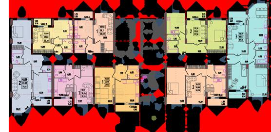 Дом №8 секция В первый этаж
