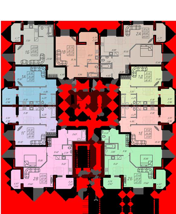 Дом №10 секция А первый этаж