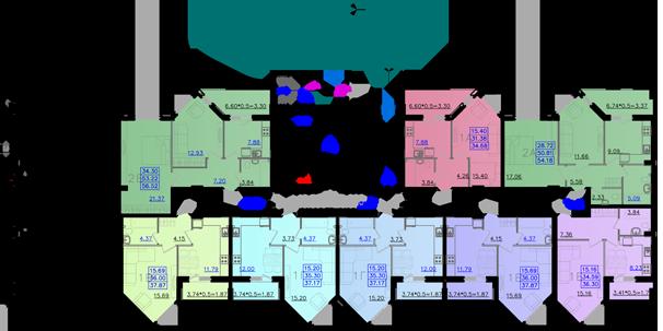 Дом №11 секция А первый этаж