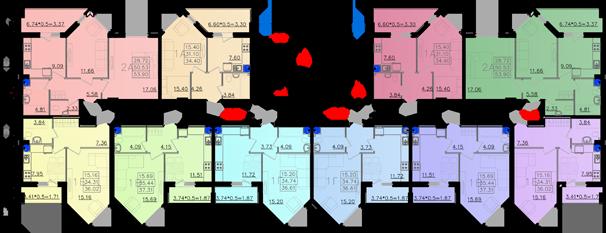 Дом №11 секция А типовой этаж