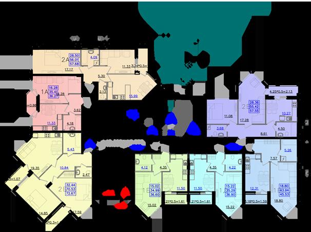 Дом №11 секция Б первый этаж