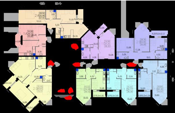 Дом №11 секция Б типовой этаж