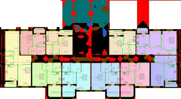 Дом №11 секция Г первый этаж