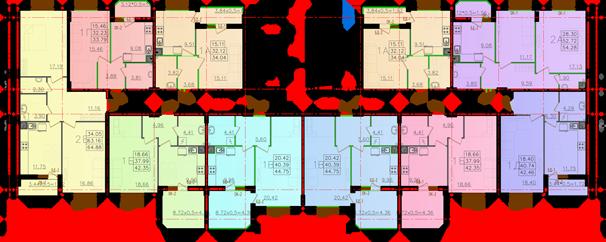 Дом №11 секция В типовой этаж