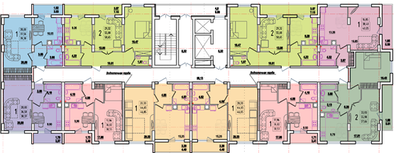 дом №8 секция А план типового этажа