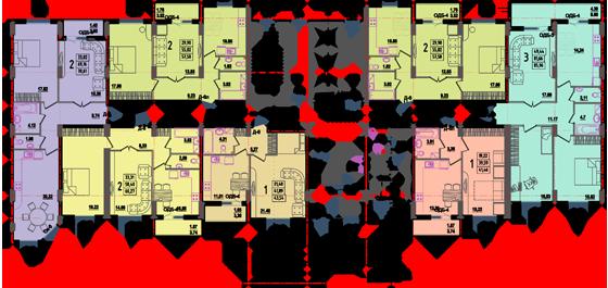 Дом №8 секция Б первый этаж