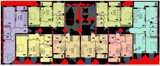 Дом №8 секция Б типовой этаж