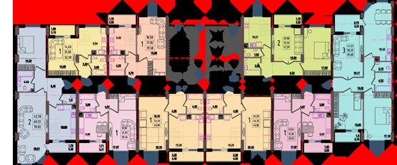 Дом №8 секция В типовой этаж
