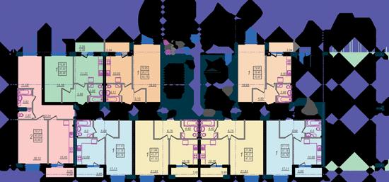 Дом №9 секция А первый этаж