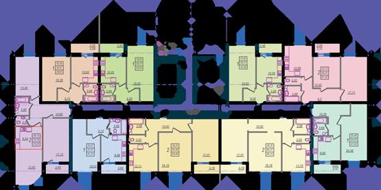 Дом №9 секция Б первый этаж