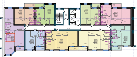 Дом №9 секция Б типовой этаж