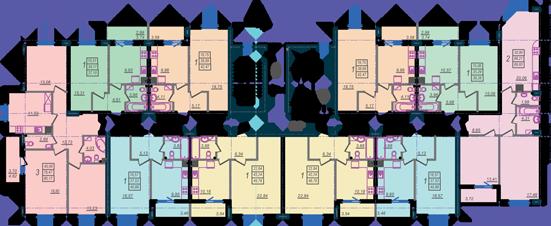 Дом №9 секция В типовой этаж